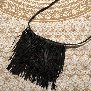 Handbags - Black fringe purse